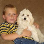 Alex and his Canyon Hills Havanese puppy